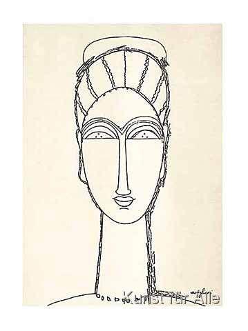 Amedeo Modigliani - Female Face