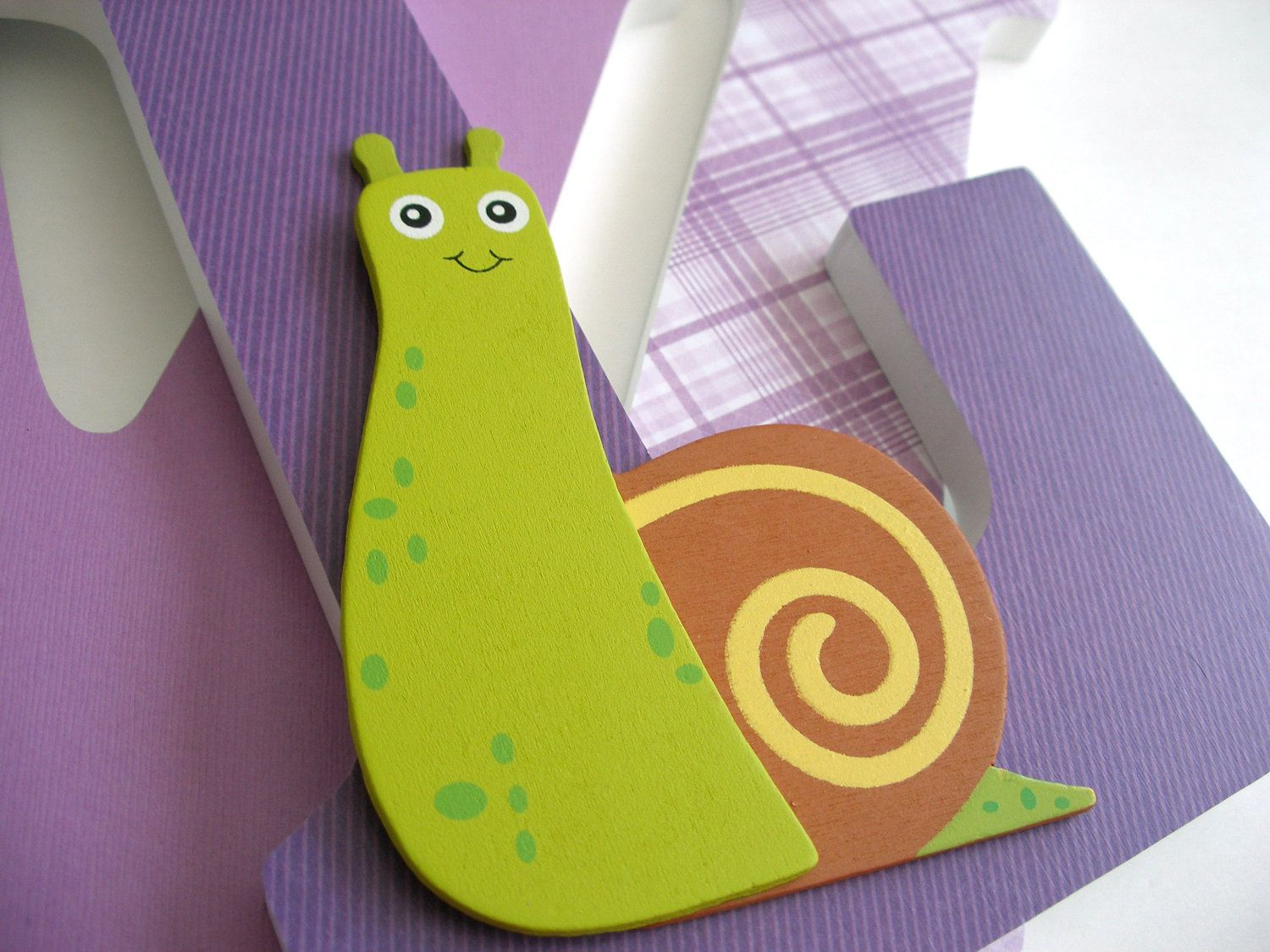 Custom Decorated Wooden Letters SNAIL Theme Nursery by LetterLuxe ...