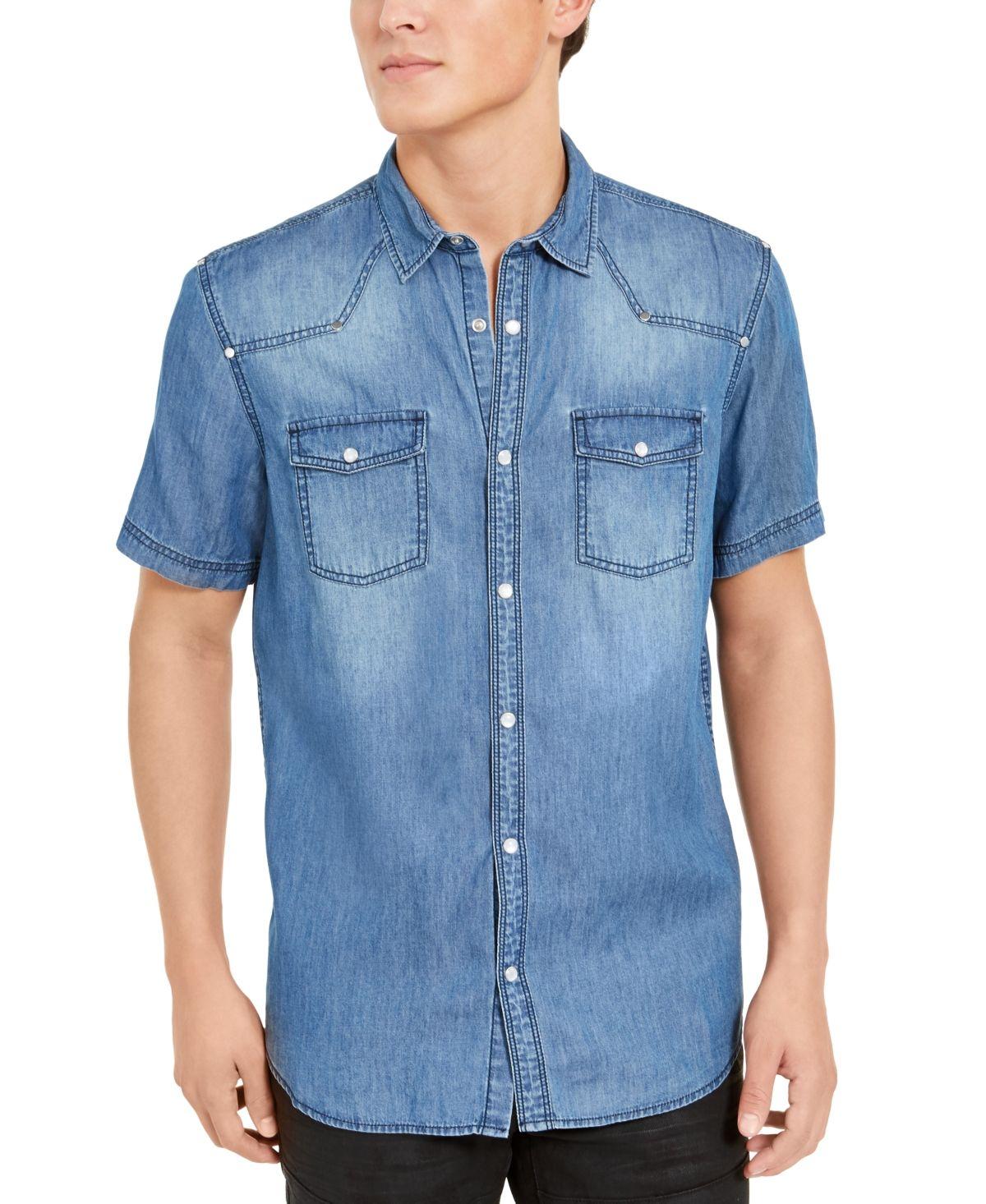 INC International Concepts INC Men's Short Sleeve Western