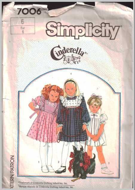 Simplicity 7006 Girl's Dress with detachable tabard Size: 6 Used https://goo.gl/fWvzzm