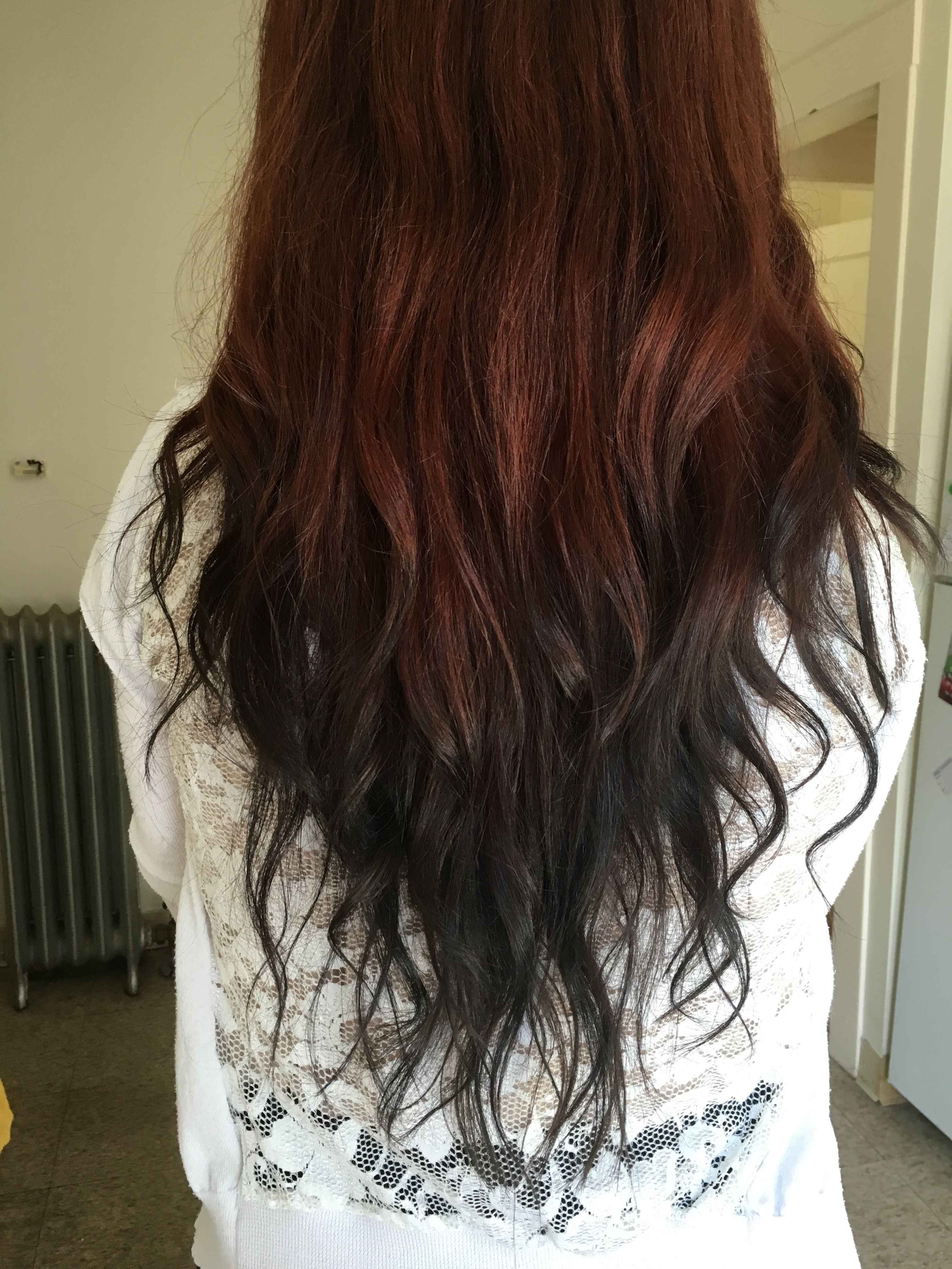 The Back Of My Head Reverse Ombr Red To Black Hairz Pinterest