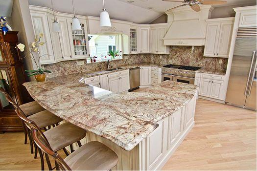 Precision Stone Design Sienna Bordeaux Granite Kitchen Concepts Luxury Kitchens