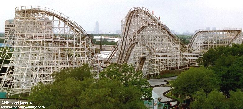 This Figure Eight Coaster Was Patterned After The Coney Island Cyclone Three Years After It Ope Houston History Wooden Roller Coaster Astroworld Houston