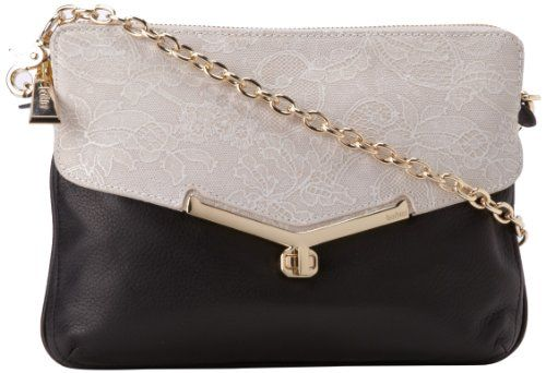 botkier Valentina Mini Convertible Luxe 13S14284-HN Cross Body,Ivory Lace,One Size