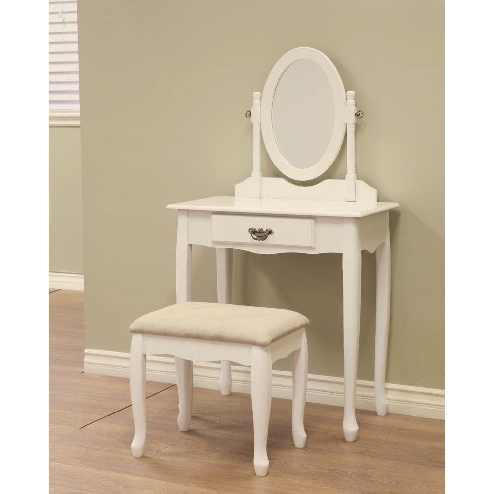 Homecraft Furniture 3 Piece White Vanity Set In 2020 Bedroom