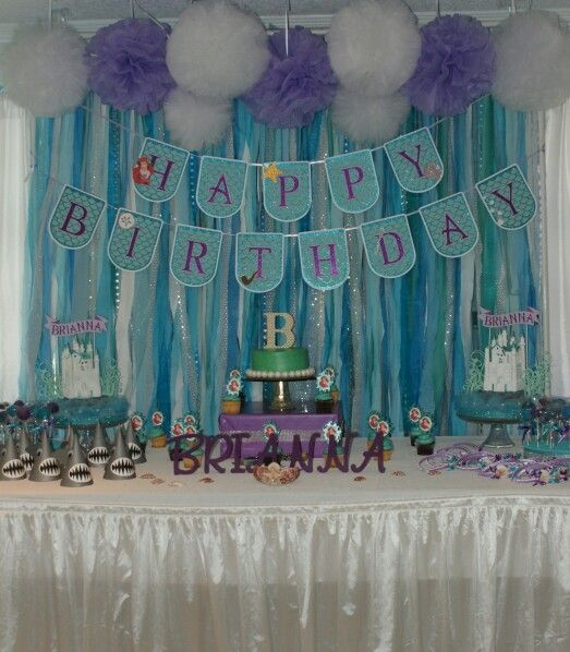 Little Mermaid Cake Table by Gwendolyn Calderon with MiaBellaCreationz