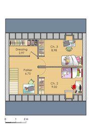 Plan habillé  - maison - Imaginer sa maison en trois clics