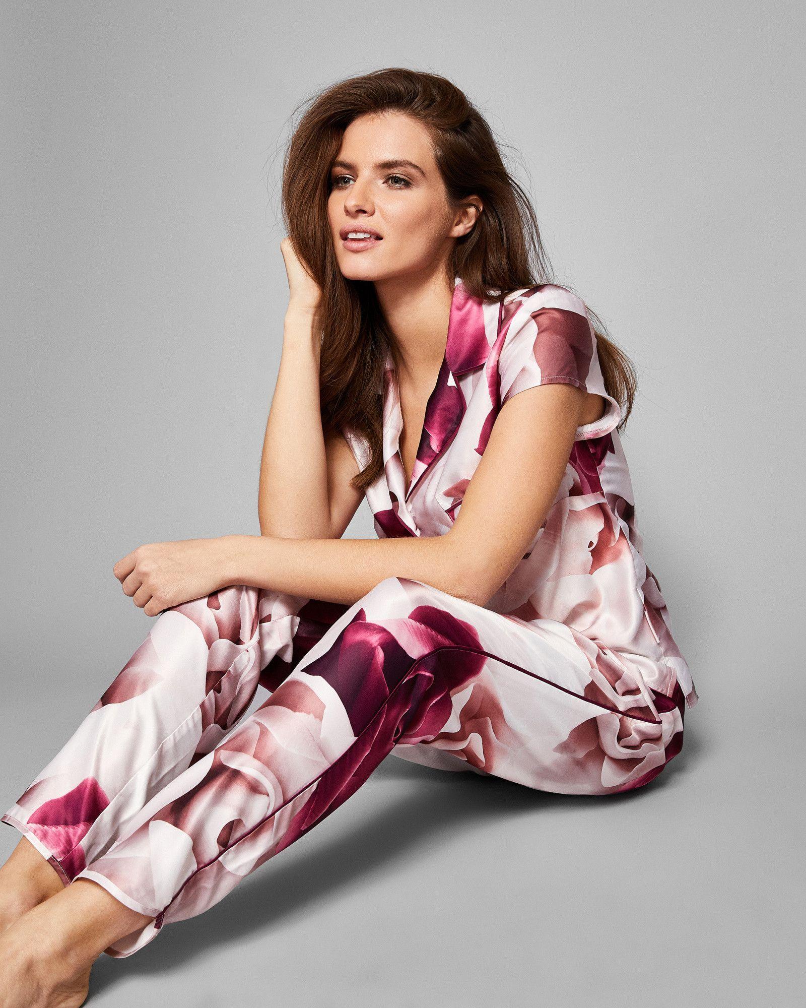 31e6db2e559d Ted Baker Porcelain Rose pyjama bottoms Maroon