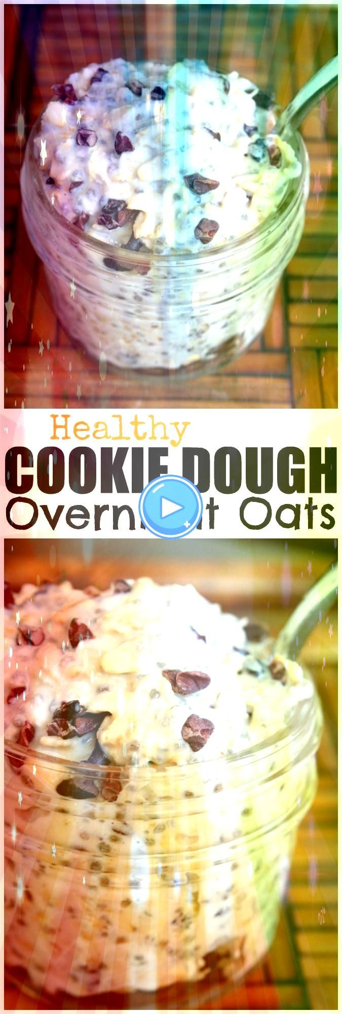 Cookie Dough Overnight Oats I have such a sweet tooth and rarely have s  EAT HEALTHY Cookie Dough Overnight Oats I have such a sweet tooth and rarely have s  EAT  Thick a...