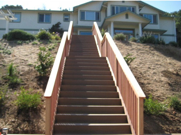 Best Custom Built Landscape Wood Stairs L Oudoor Steps And 640 x 480