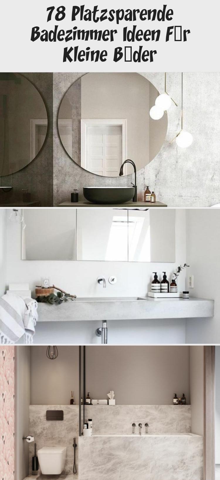 78 Platzsparende Badezimmer Ideen Fur Kleine Bader In 2020 Round Mirror Bathroom Decor Bathroom Mirror