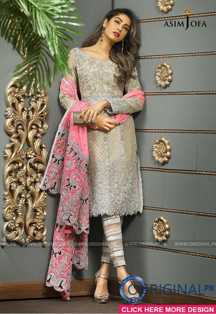 acf9baa9c4 Asim Jofa AJC-02 B Mysorie Chiffon Collection 2017 Price in Pakistan famous  brand online shopping, luxury embroidered suit now in buy online & shipping  wide ...