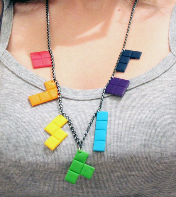 Tetris necklace by Qatarinahh.deviantart.com on @deviantART