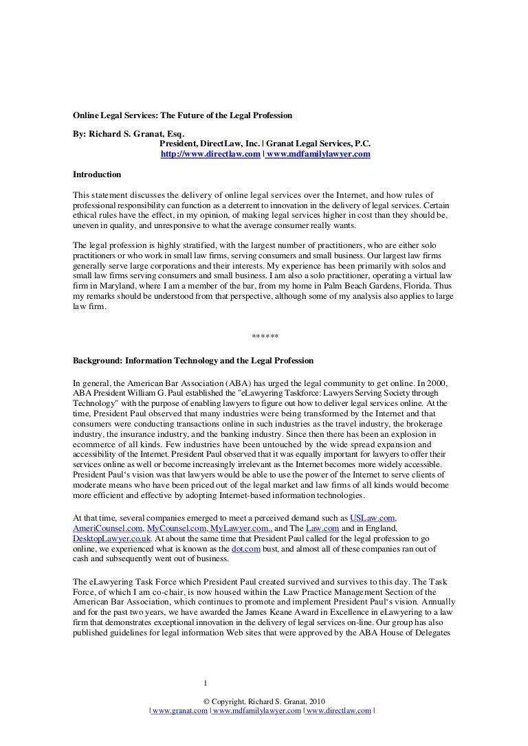 future-of-the-legal-profession by Richard Granat via Slideshare