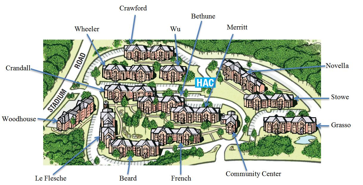 uconn depot campus map Uconn Hilltop Apartments Map With Names Of Buildings College Dorm Decorations Uconn Dorm Decorations