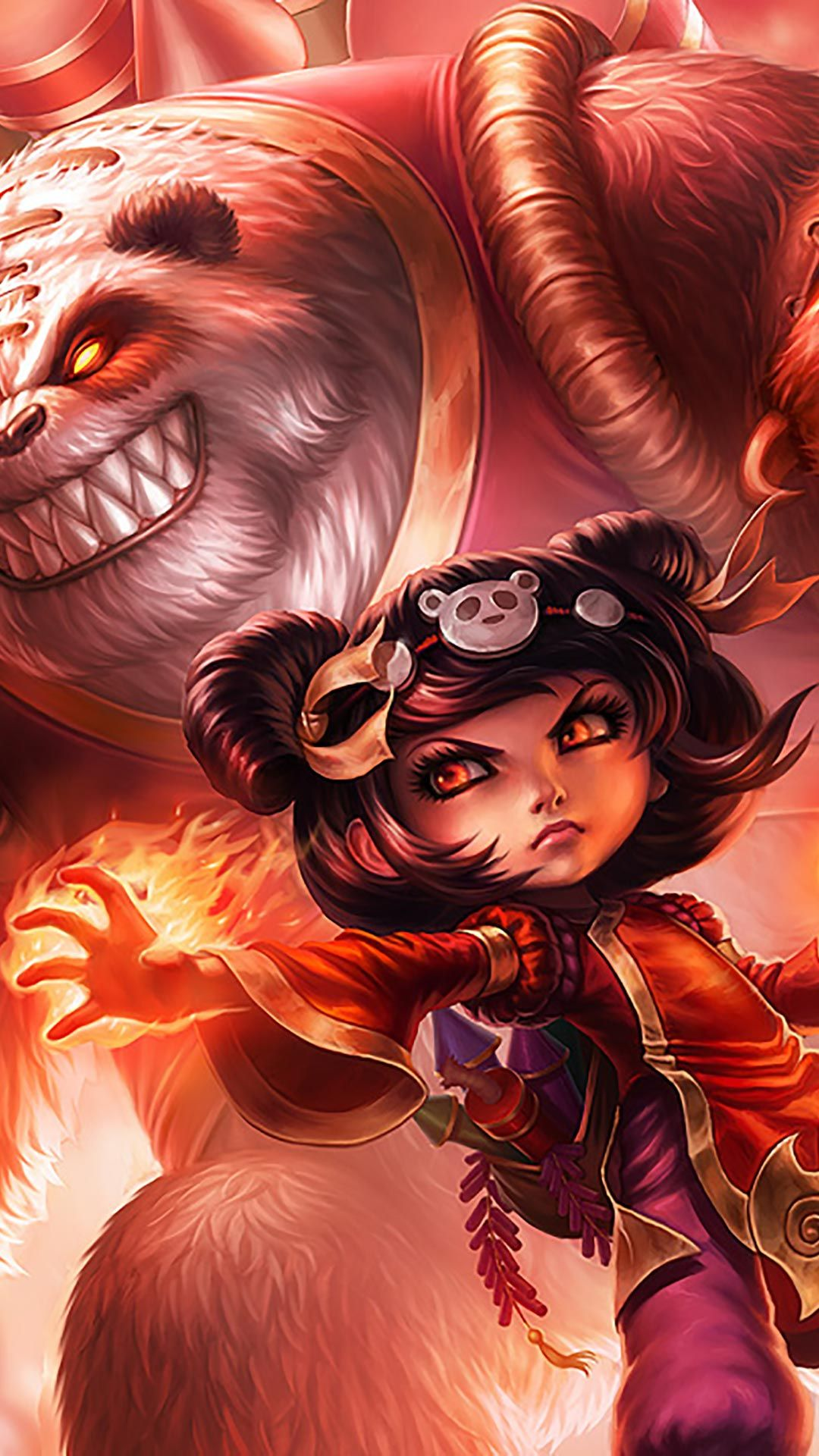 Panda Annie Skin Android Iphone Wallpaper Mobile Background