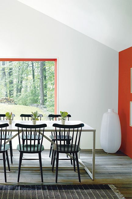 ravishing wall color for red furniture. Wall Color  Paper White Accent Window Trim Naturally Beautiful