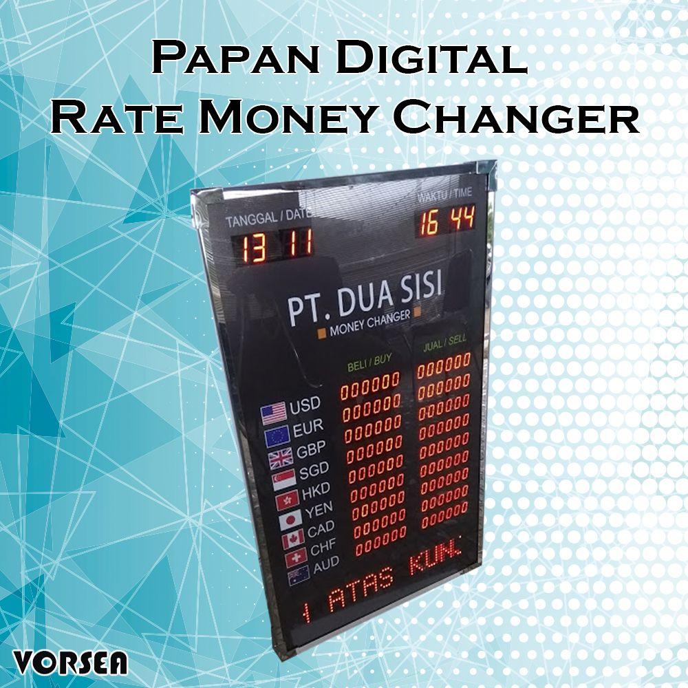 Papan Digital Rate Money Changer Vorsea Led Ruang Outdoor Papan