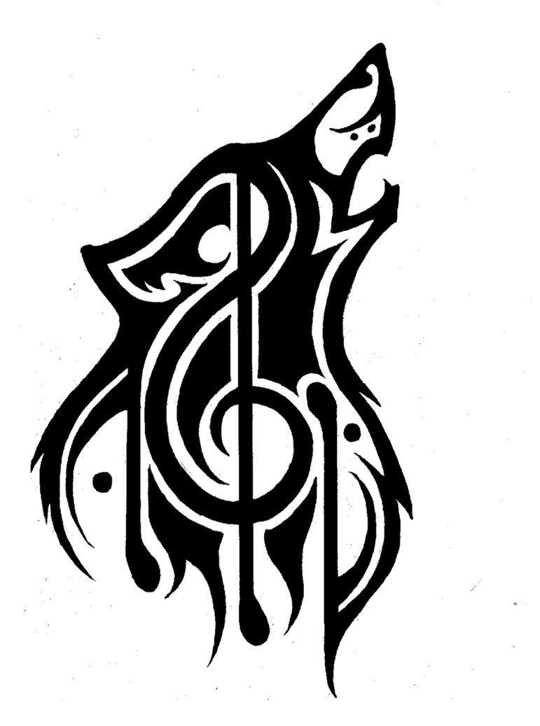 2ce5b323 Tribal Wolf Music Theme Tattoo Refined by P-D-Kiko.deviantart.com on @ DeviantArt