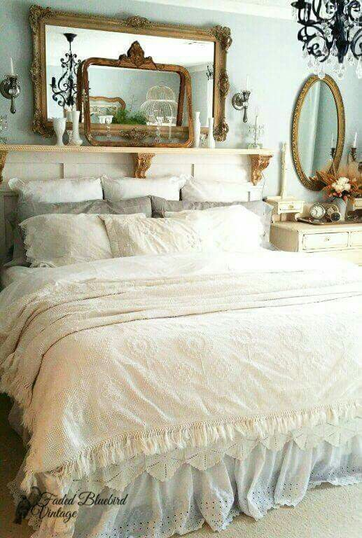 wonderful romantic shabby chic bedroom | Beautiful in 2019 | Shabby bedroom, Shabby chic bedrooms ...