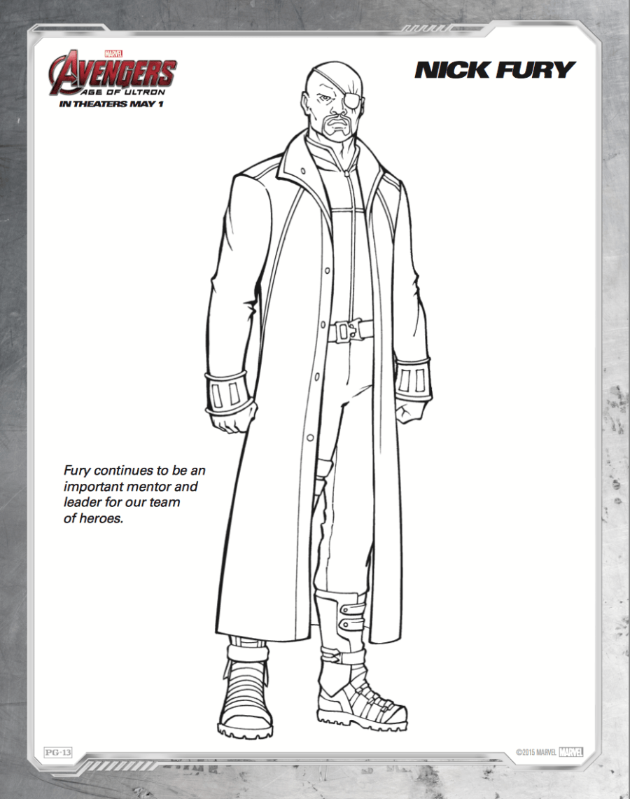 Free printable Avengers: Age of Ultron coloring sheets ...