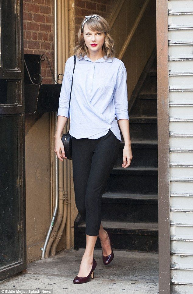 Stunning: Taylor Swift stepped out of ModelFit gym in New York City with  maroon heels