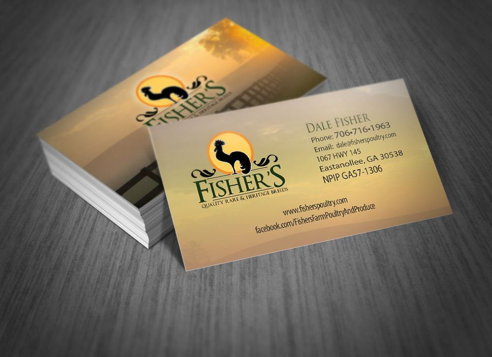 Business card design for rare and quality heritage chicken breeder ...
