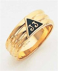 33 Degree Masonic Rings Men - 10k Masonic Blue 33 degree