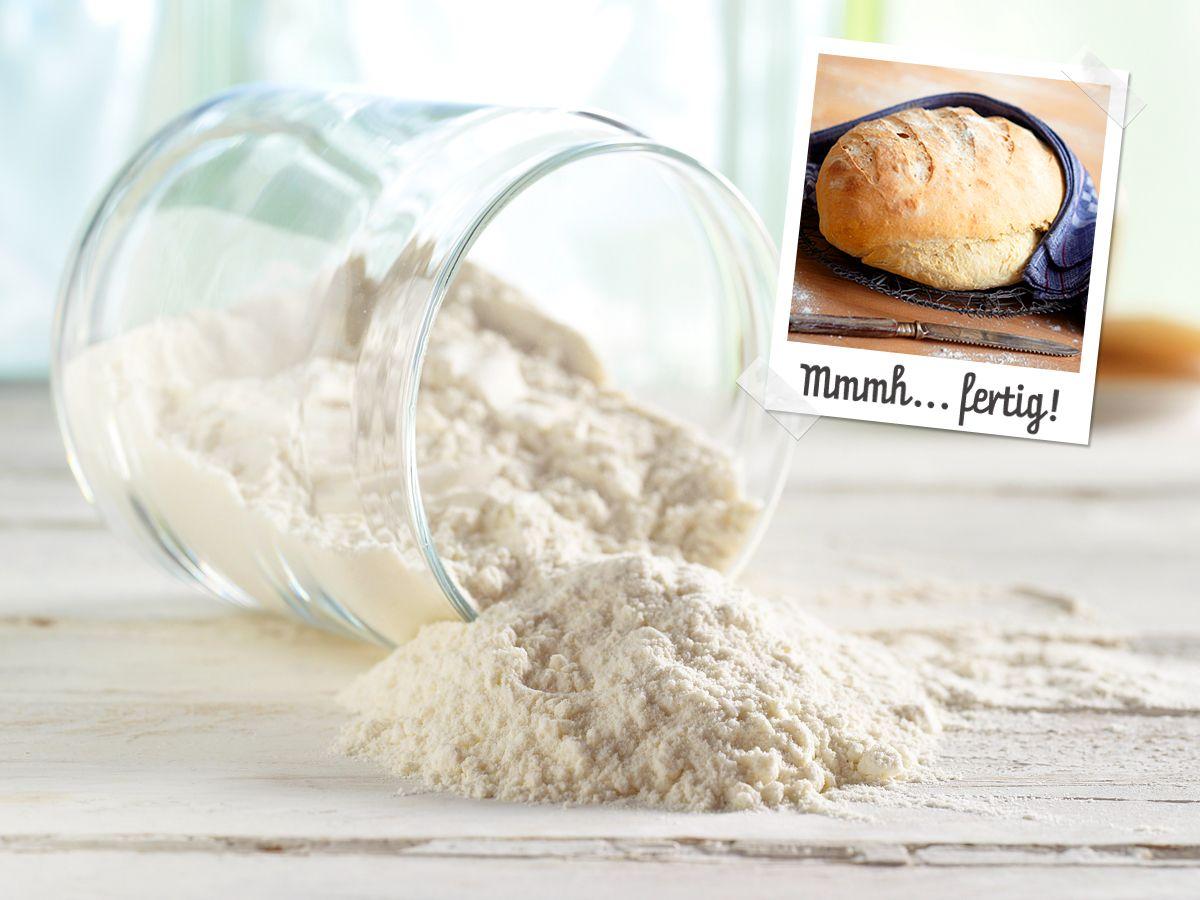 Brot backen - so geht's Schritt für Schritt - brot-backen-zutaten-2  Rezept