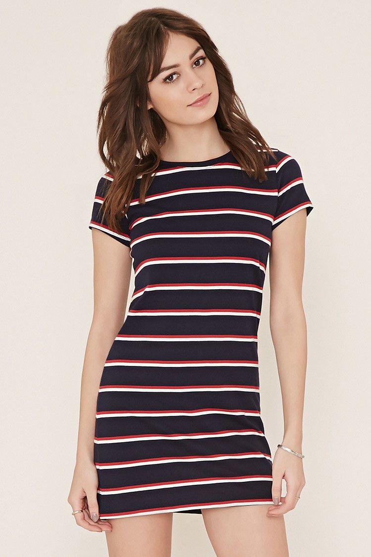 Striped T-Shirt Dress  6f837044b