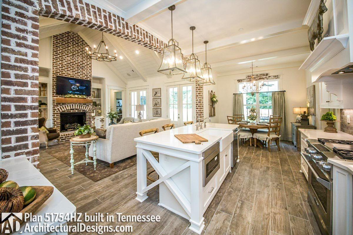Plan 51754hz Modern Farmhouse Plan With Bonus Room Kitchen Plans Home Remodeling Farmhouse Interior