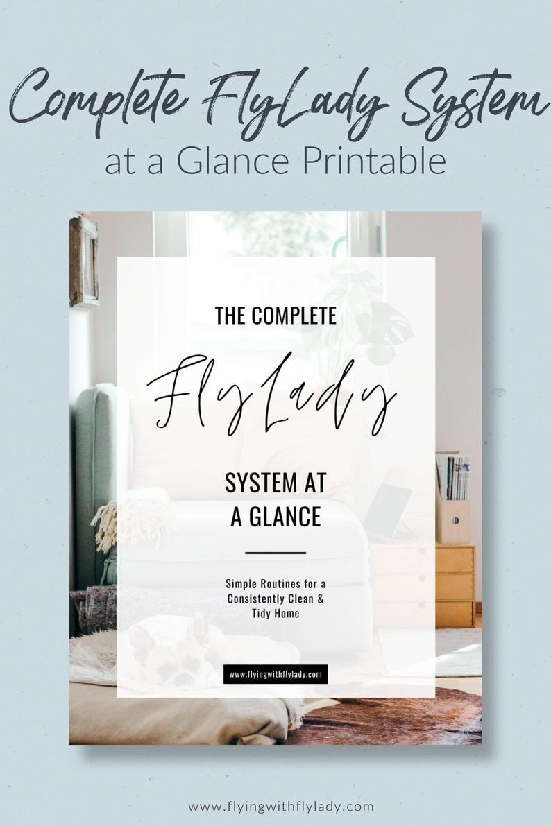 FlyLady System at a Glance Printable FlyLady Cleaning | Etsy