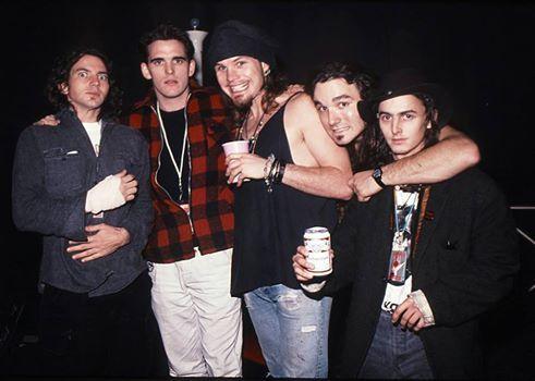 Pearl Jam with Matt Dillon in 1991