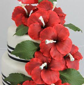 Torturi - Viorica's cakes: Tort cu hibiscus rosu