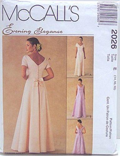 McCalls 2026 Sewing Pattern Evening Elegance Bridesmaid, Formal ...