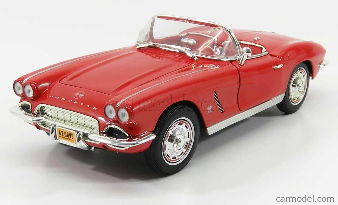 Ertl 1962 Chevy Corvette Convertible Red 1:18 Scale Diecast /'62 Car