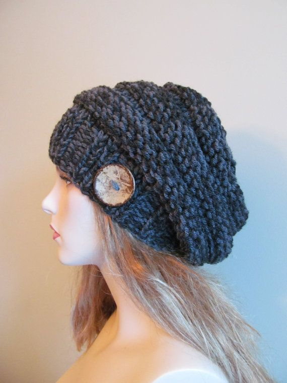 PDF Knitting Pattern Instant Download Chunky Slouchy Beanies Berets ...