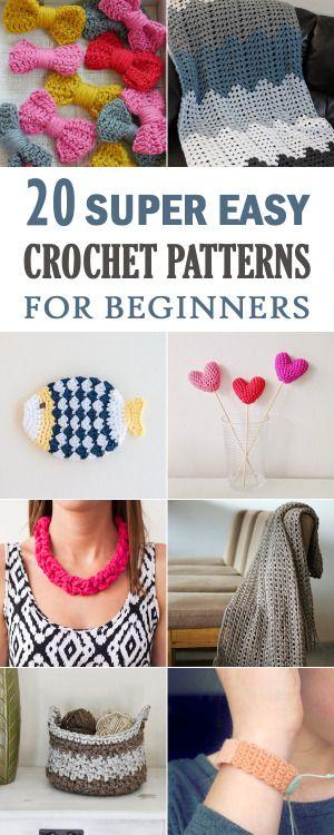 20 Super Easy Crochet Patterns For Beginners Heart Pinterest