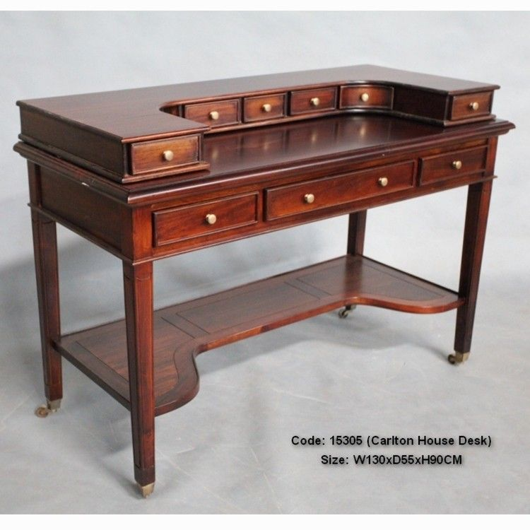 Solid Mahogany Wood Writing Desk - Antique Reproduction Design - Mahogany Wood Writing Desk Mahogany Office Desks Pinterest