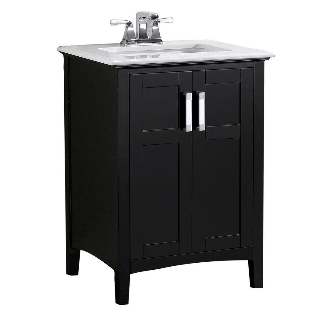 24 Inch Winston Black Bath Vanity Simpli Home Marble Vanity Tops Single Sink Bathroom Vanity Simpli Home
