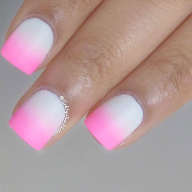 21 Ideas How to Do Cute Ombre Nails | Nail pictures, Short nails and ...