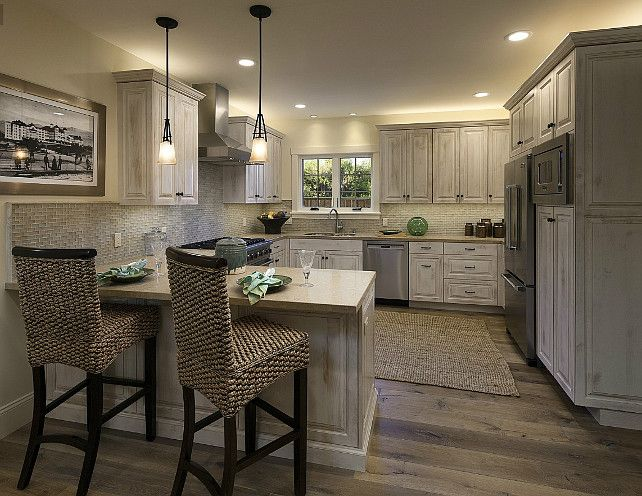 Amazing And Smart Tips For Kitchen Decorating Ideas: L-shaped Kitchen Design Layout With Small Island