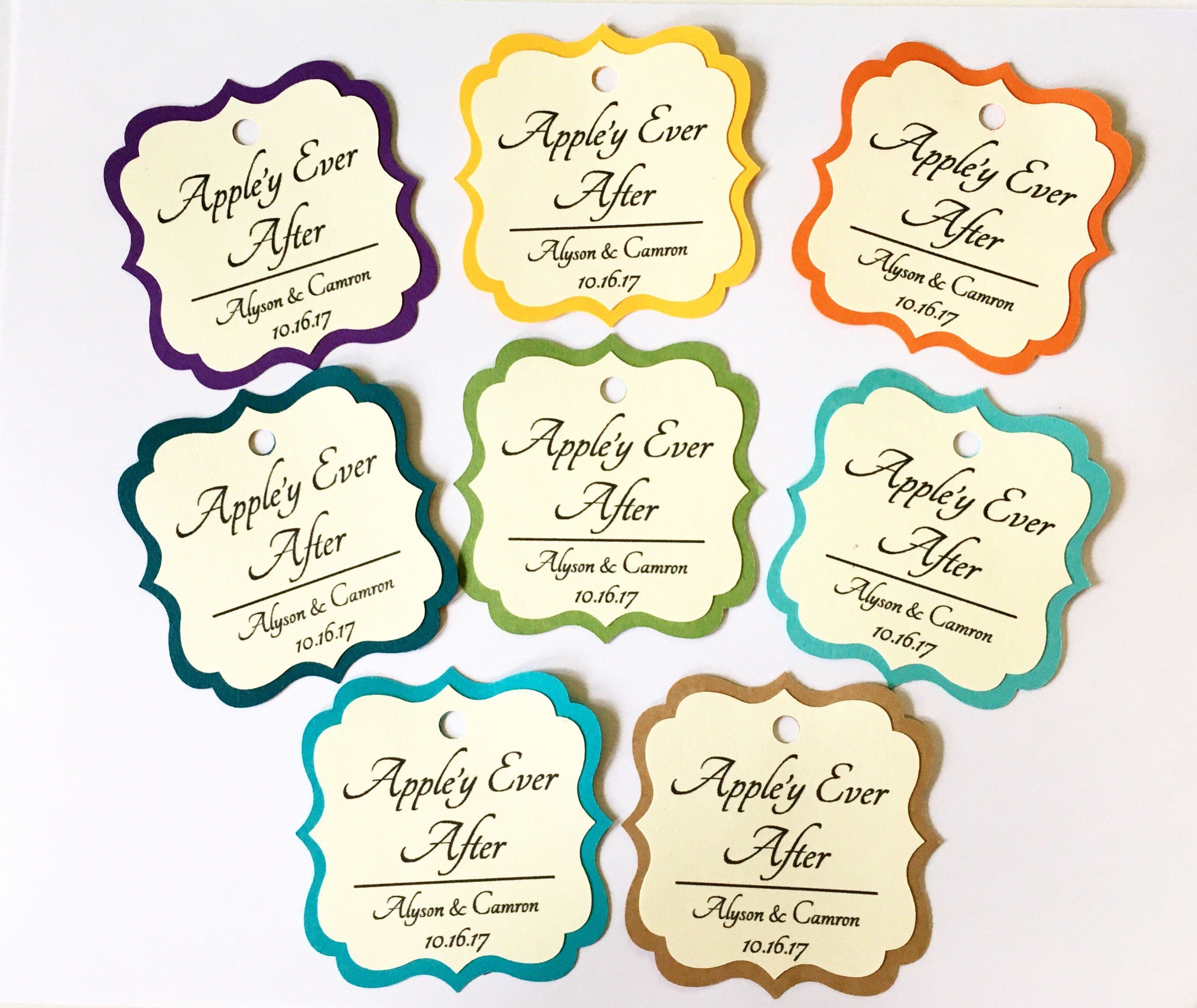 Personalized Appley Ever After Wedding Favor Tags. Select AMOUNT ...