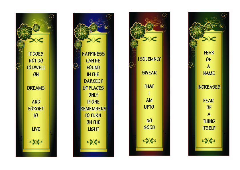 photo regarding Printable Harry Potter Bookmarks identified as Free of charge PRINTABLES: Harry Potter Bookmarks! Do-it-yourself - Clip Artwork