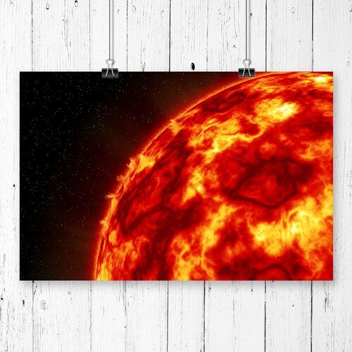 Poster Sun in Space, Grafikdruck East Urban Home Größe: 42 cm x 59,4 cm