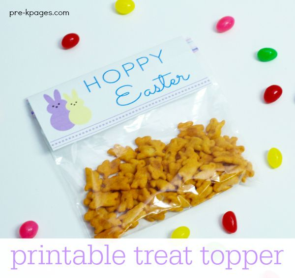 Easter party peeps treat bag toppers easter and easter baskets easter party peeps treat kindergarten activitiespreschool ideasbag negle Image collections