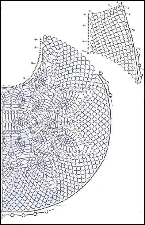 CROCHET - GANCHILLO - PATRONES - GRAFICOS: CROCHET = CHALEQUITO ...