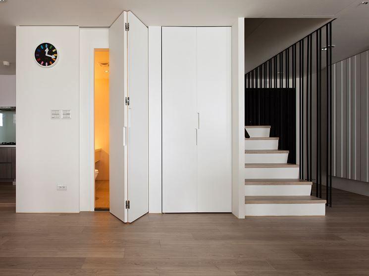 porte salvaspazio entrata bagno non solo serramenti | Porte | Pinterest