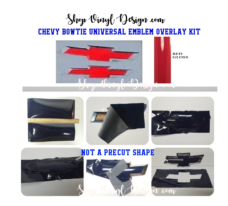 All Chevy blue chevy bowtie emblem : CHEVY BOWTIE EMBLEM Universal Overlay Kit, DIY_Red Gloss, 11 ...