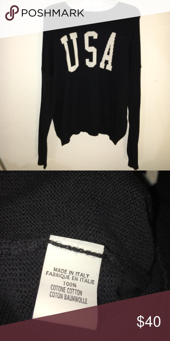 87ef005c853 USA knit sweater RARE Brandy Melville USA black knit sweater. Never ...